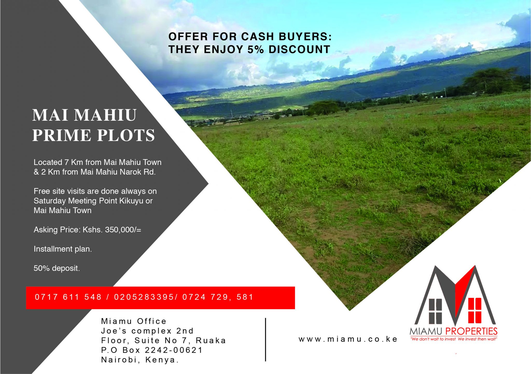 50/100 Prime Plots In Mai Mahiu