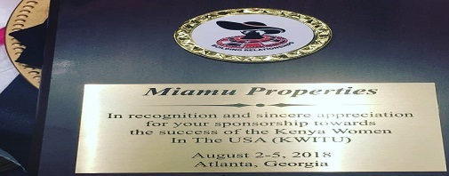 KWITU Representation- Miamu Properties Limited  Sponsored  An Event On KWITU